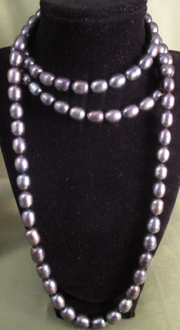 102ct Tahitian Cultured Pearl Necklace 14k Clasp