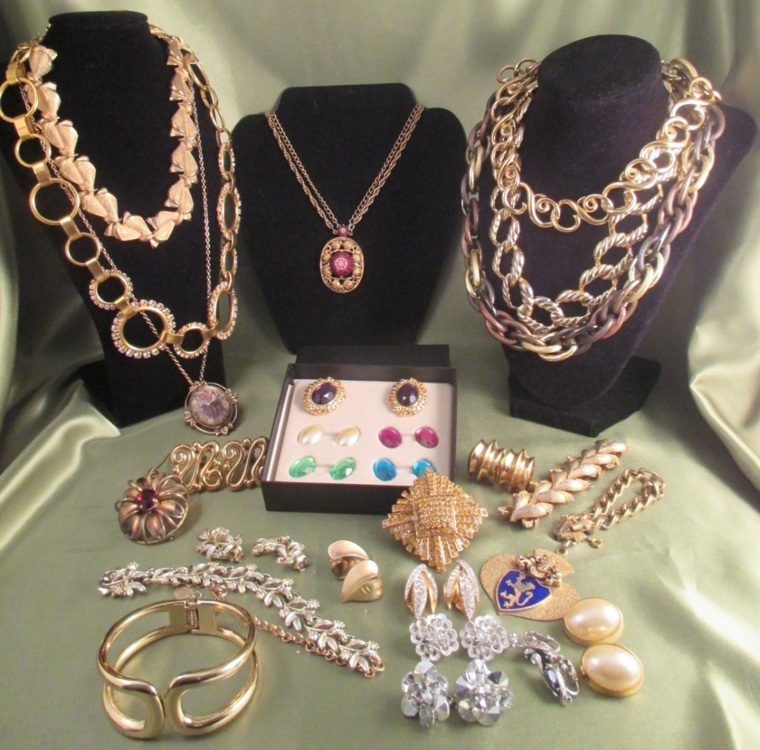 Lot of Costume Jewelry  23 pieces Barclay, Givenchy KJL