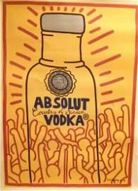 "Keith Harding Rare "" Absolut Vodka"" Print"