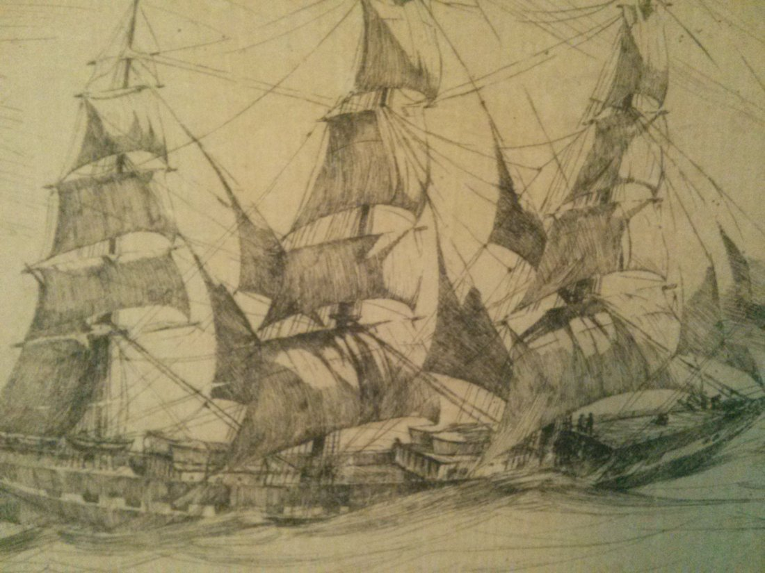 """Arthur Beaumont """"Fourteen Knox""""  Etching Signed/ No."""