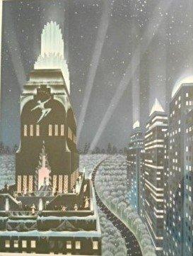 "Robert Hoppe "" Rooftop Serenade"" Lithograph Signed/No"