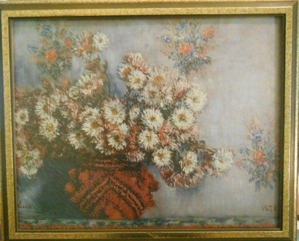 """Claude Monet """"Chrysanthemums"""" Litihograph"""