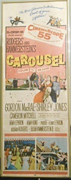 "Rogers Hammerstein's ""Carousel"" 1956 Original Poster"