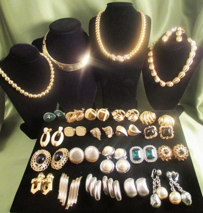 Lot of Costume Jewelry Paolo Gucci, Haskell,, Ciner,KJL