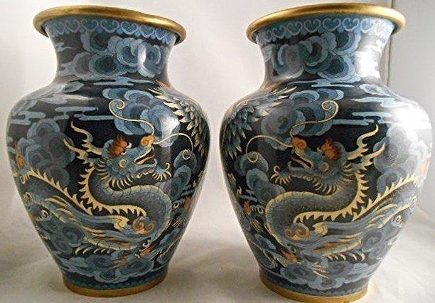 Antique Chinese Cloisonne Enamel Vase