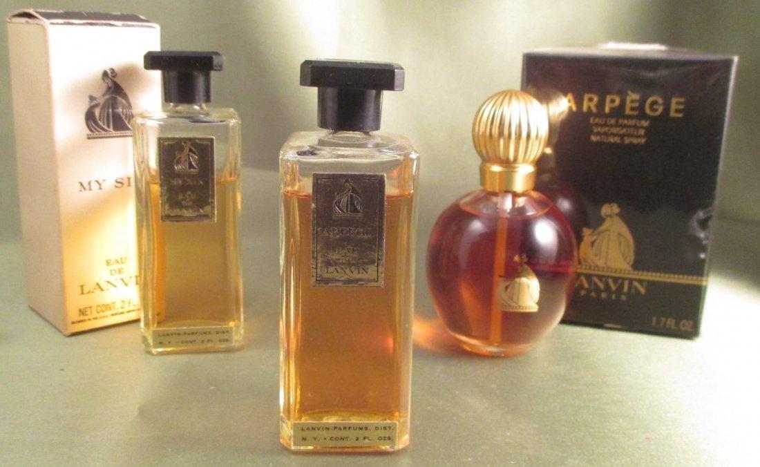"Lanvin Vintage Perfume Lot ""My Sin"" & "" Arpege eau de"""