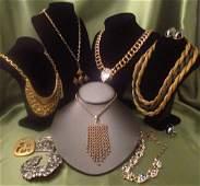 Costume Jewelry Lot Hobe, Eisenberg, DeNicola set, KJL