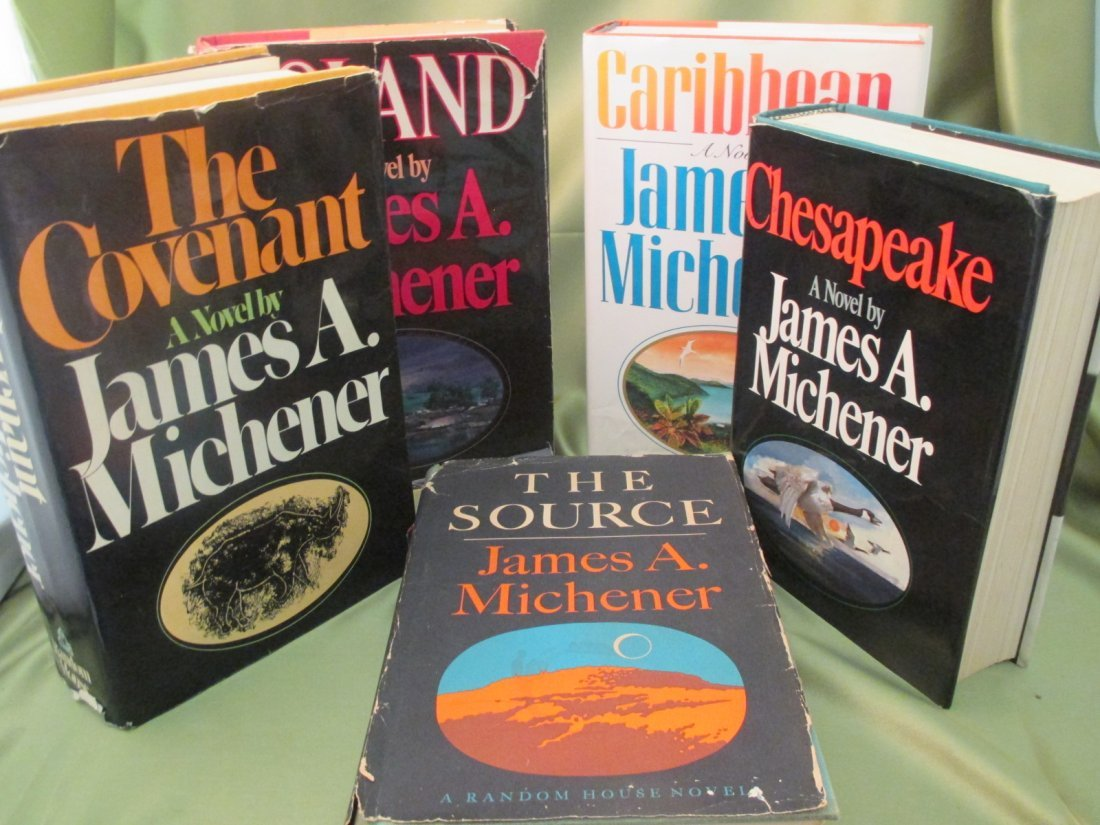 James A. Michener First Ed. First Print Lot of 5 Novels