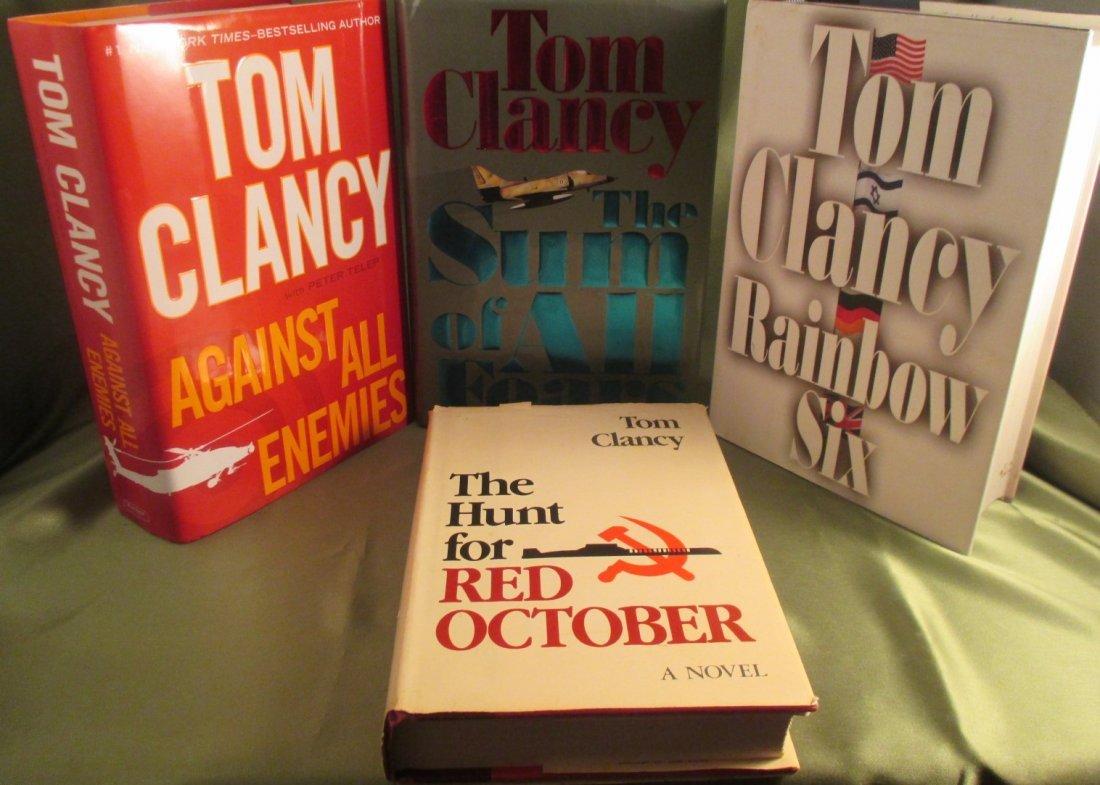 TOM CLANCY 1st Edition Novel Lot