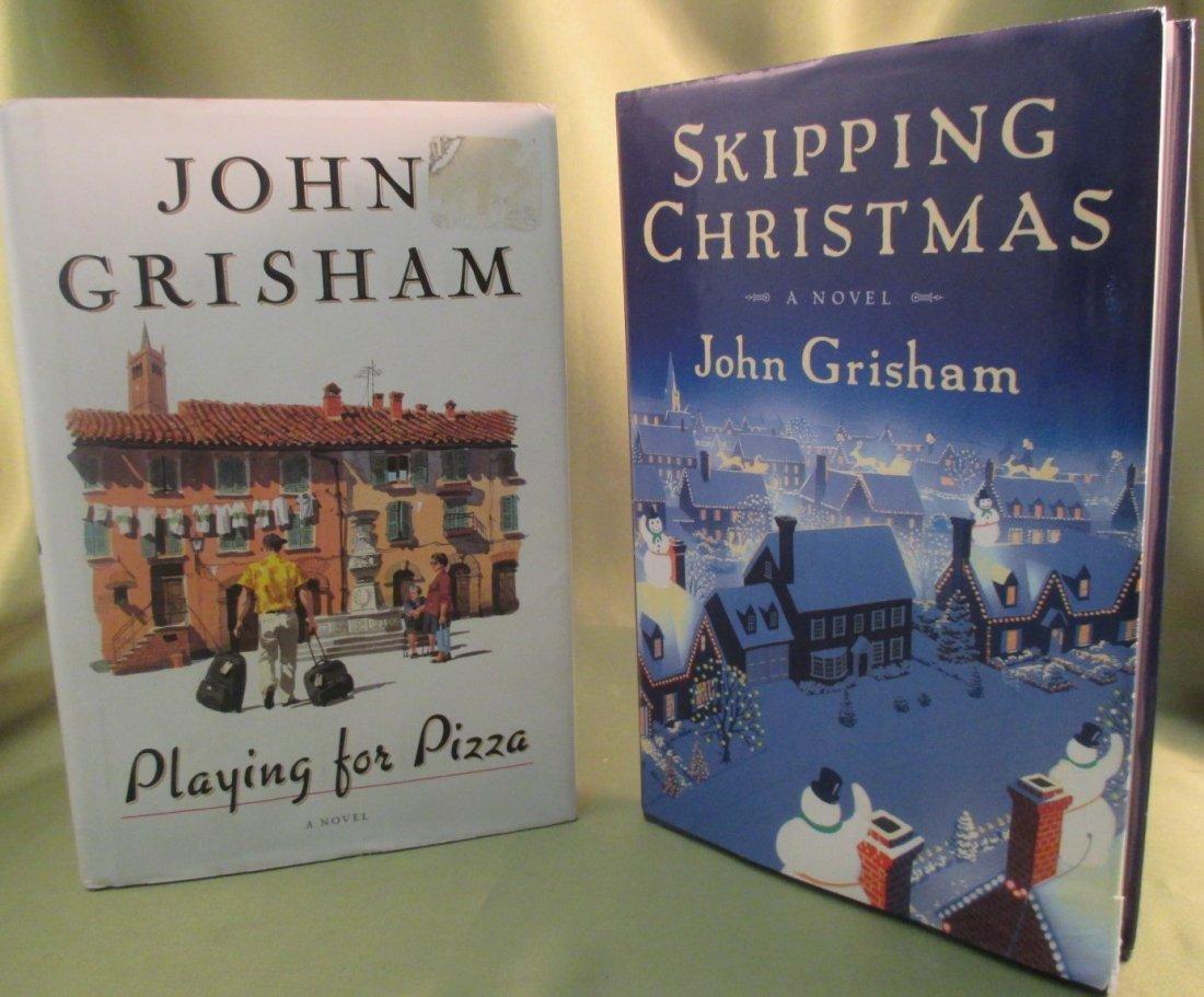 "John Grisham ""Skipping Christmas"" & ""Playing for Pizza"""