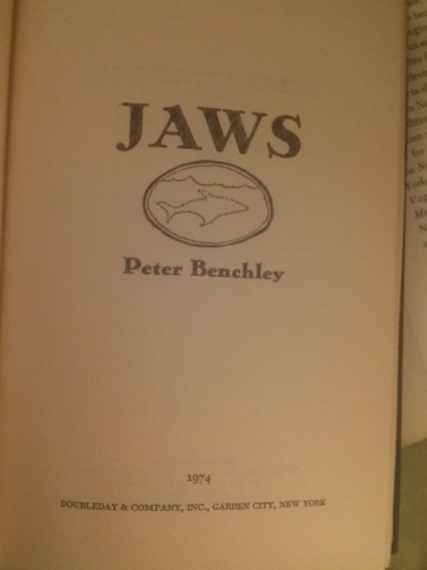 Peter Benchley JAWS A Novel 1st Edition 1st Print - 4