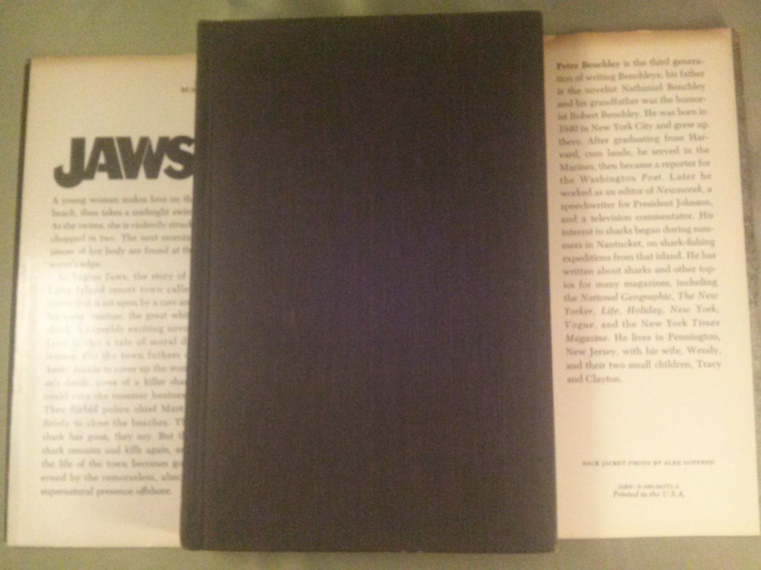 Peter Benchley JAWS A Novel 1st Edition 1st Print - 8