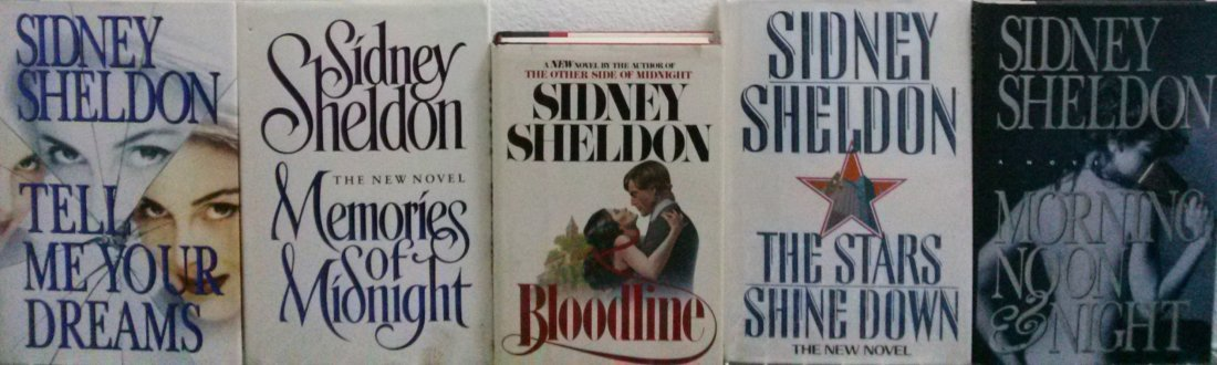 Sidney Sheldon First Edition First Print Lot