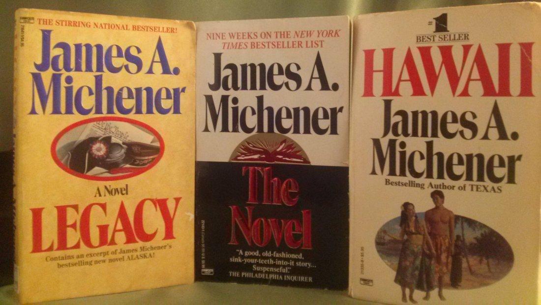 James A. Michener Novel lot paperback
