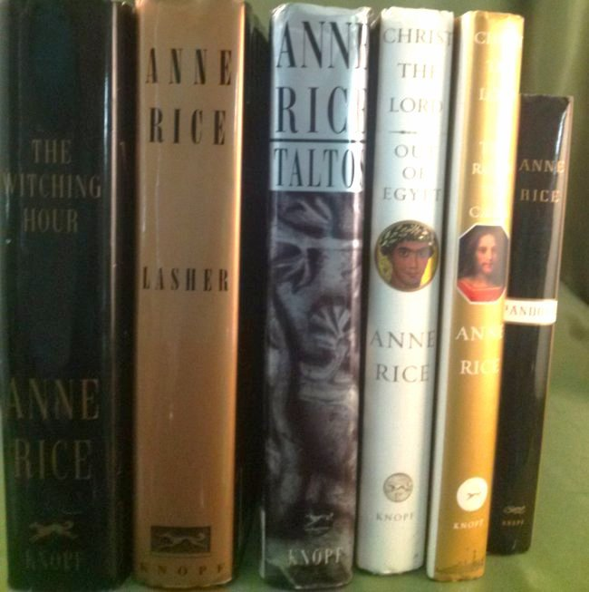 Anne Rice First Edition Novel Collection