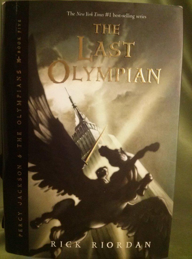 Rick Riordan PERCY JACKSON & THE LAST OLYMPIAN SIGNED