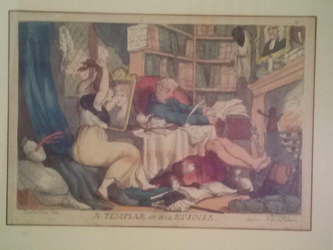 "Thomas Rowlandson ""A Templar at His Studies """