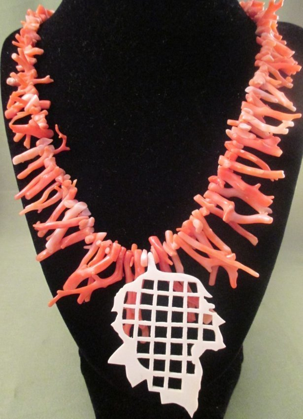 Mary Mcfadden Branch Coral Necklace