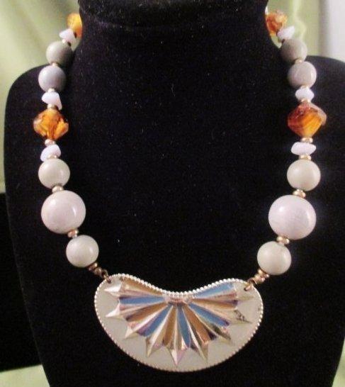 Miriam Haskell Enamel Necklace 1970