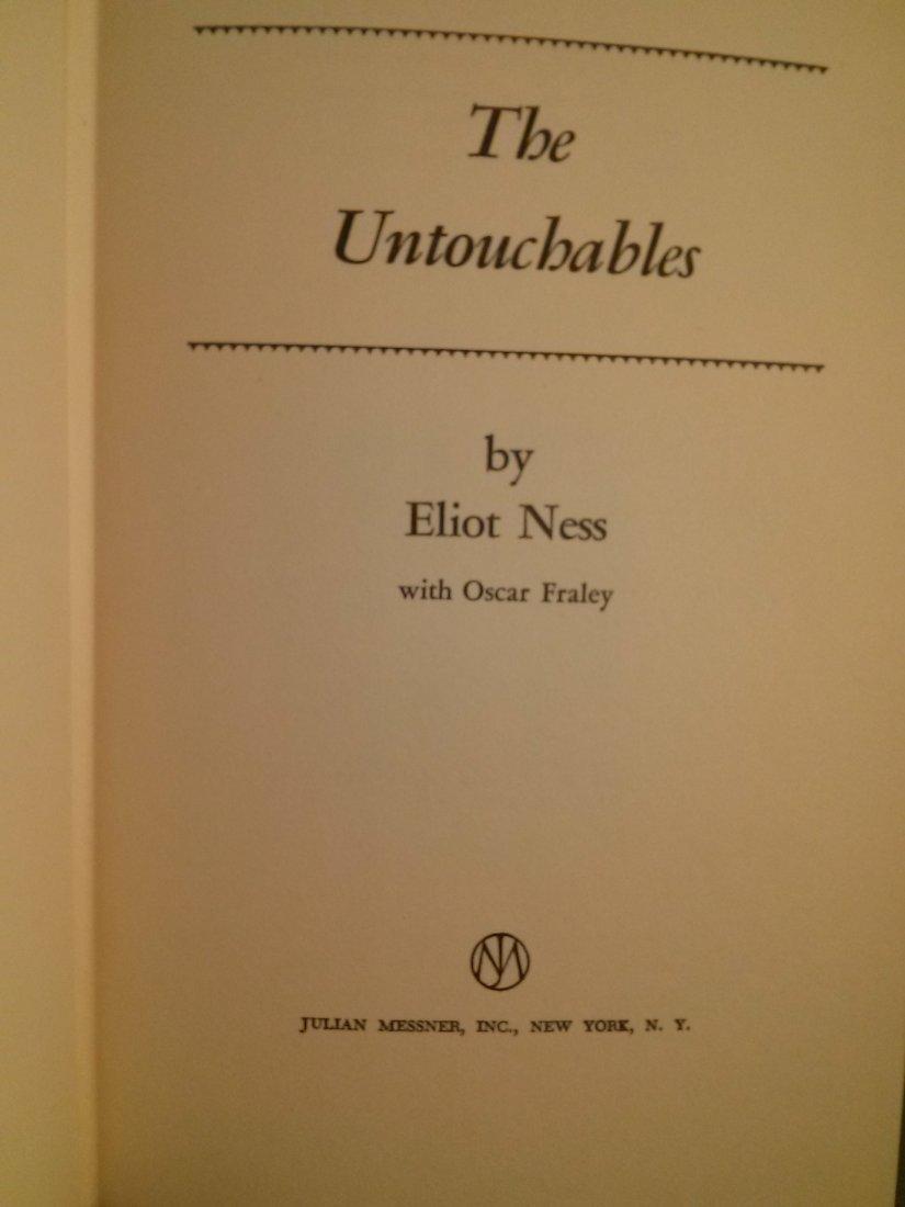 Ellot Ness The Untouchables 1st ed 1st Print 1957 - 3