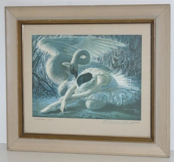 Vladimir Tretchikoff Dying Swan Original Litho. Signed
