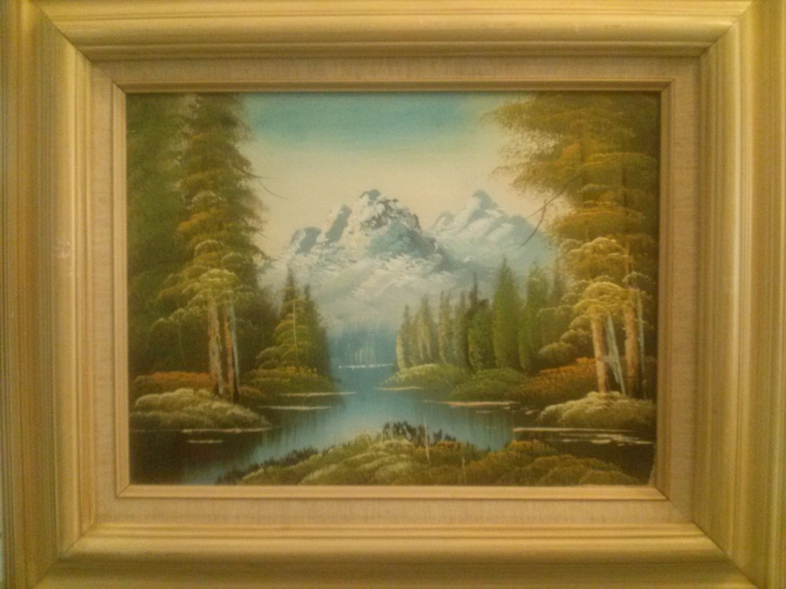 Oil Painting signed Thomas
