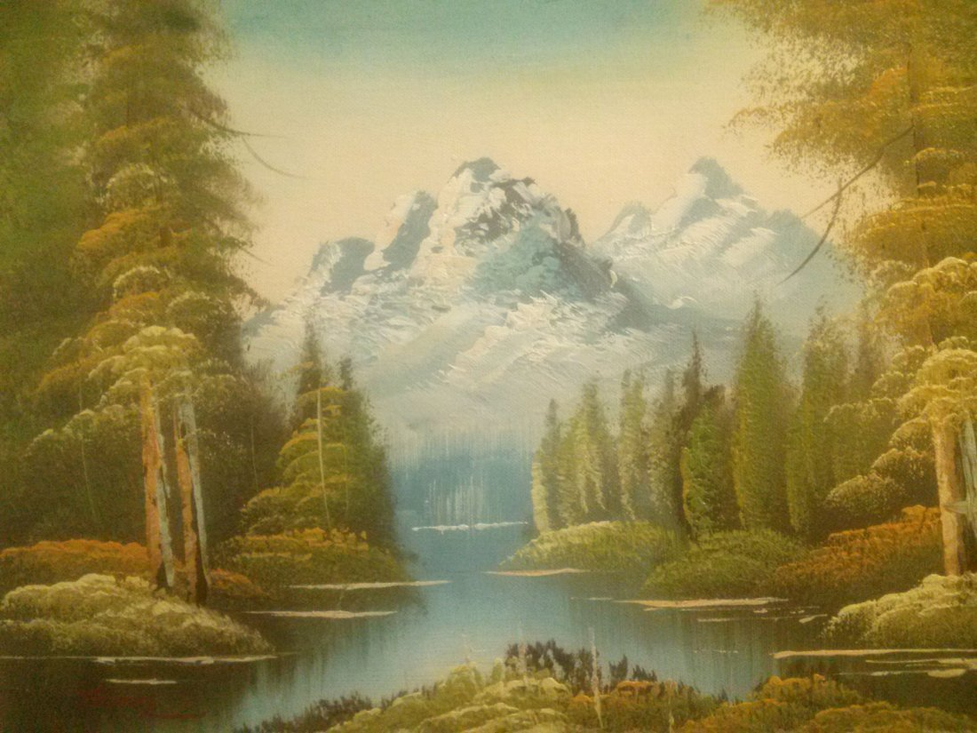 Oil Painting signed Thomas - 3
