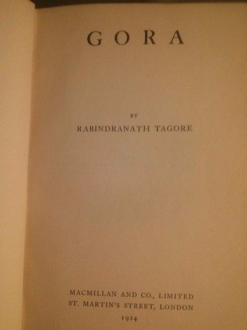 Rabindranath Tagore GORA First Edition 1924 - 4
