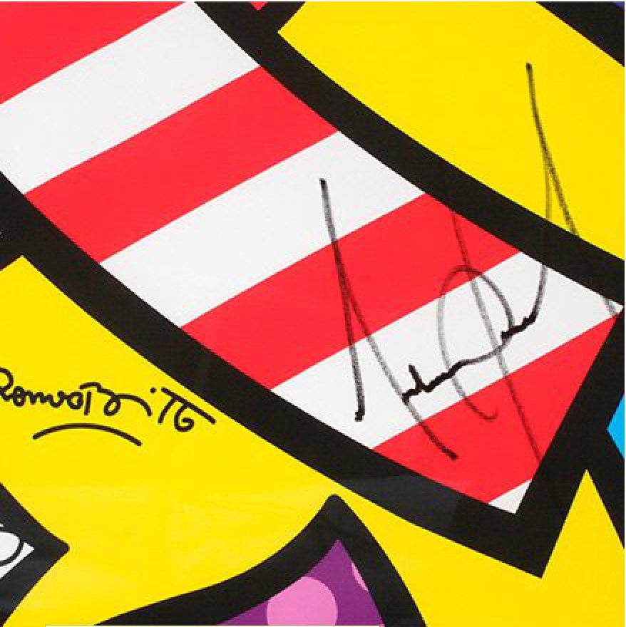 Romero Britto - What More Can I Give **SIGNED BY MJ** - 2