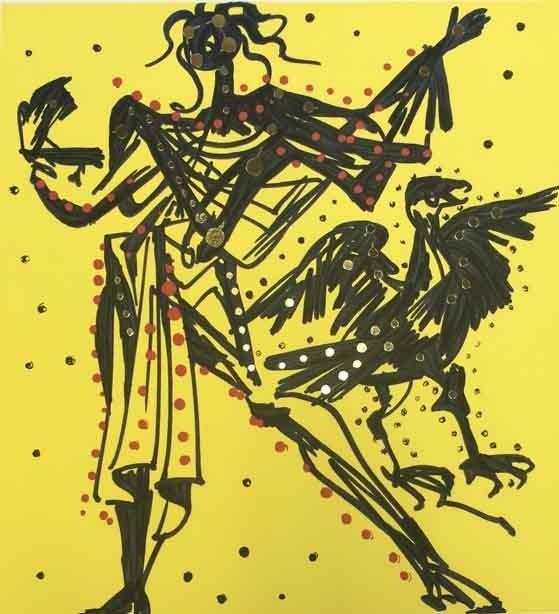 Salvador Dali - John (Knight of the Sparrow-Hawk)