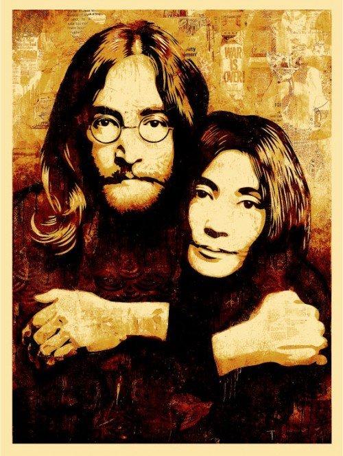 Shepard Fairey and Iain Macmillan - John & Yoko