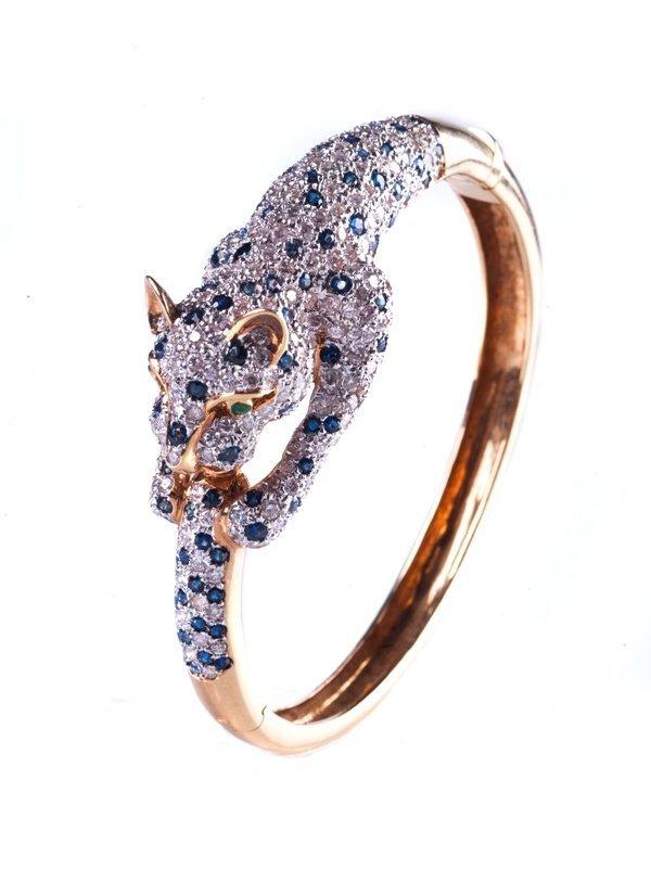 leopard Bangle18k40g. diamond approximately3.50ct