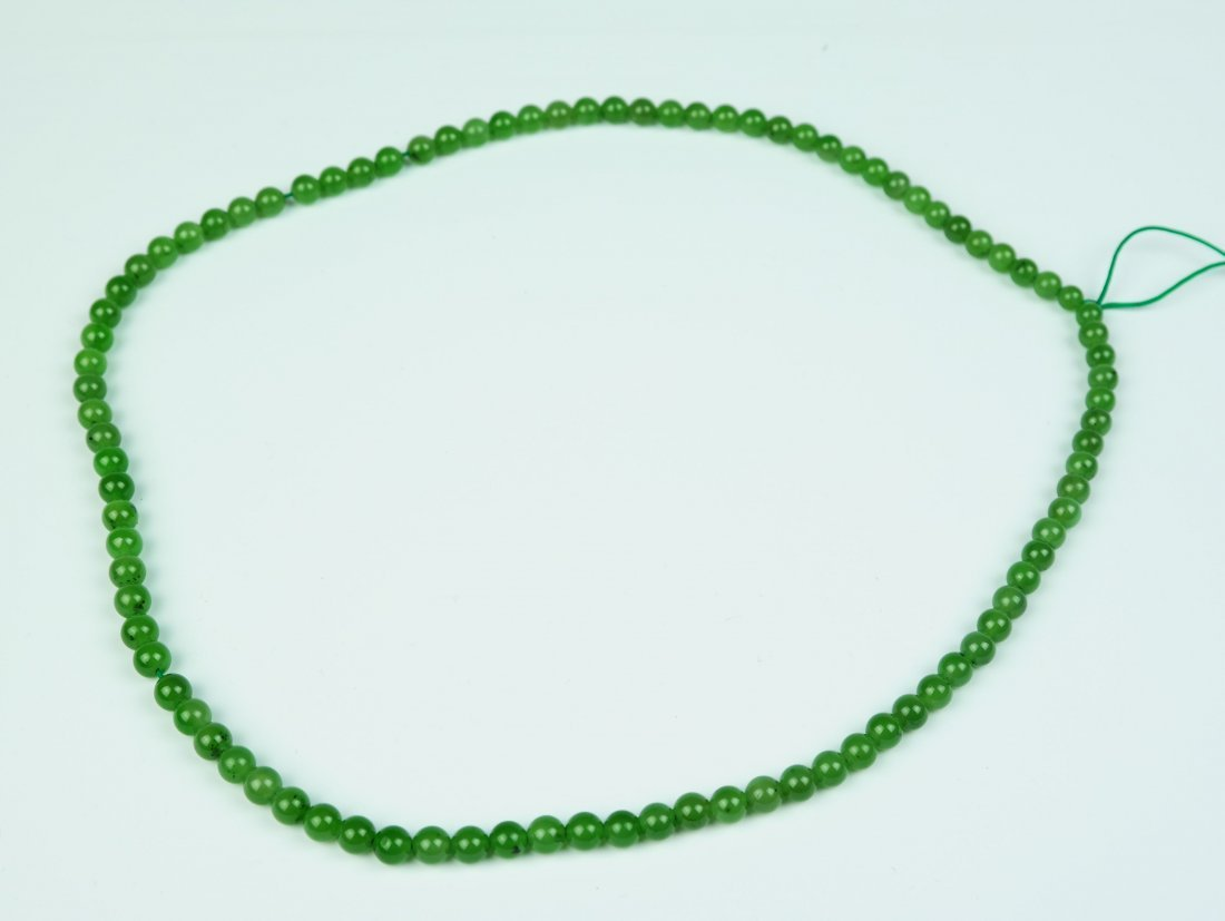 a jade beaded necklace