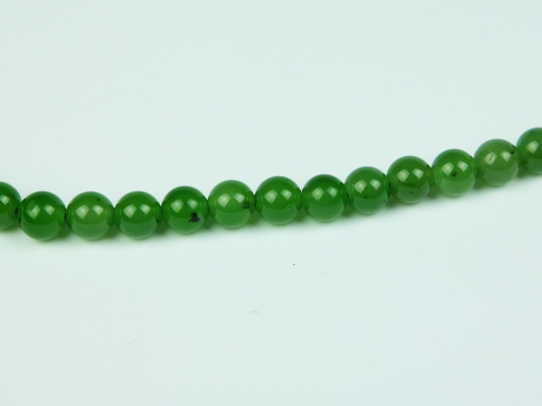 a jade beaded necklace - 2