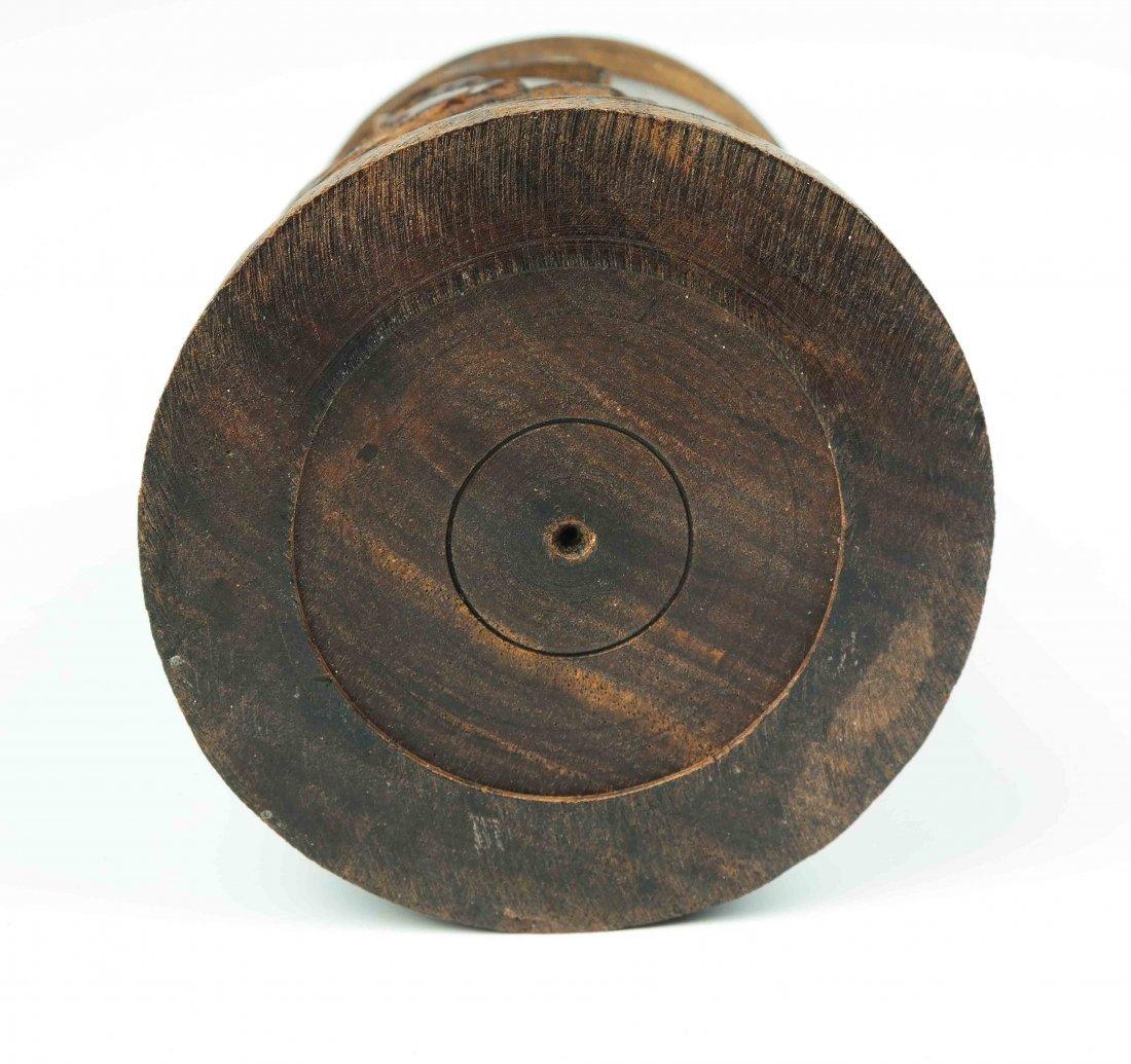 a hardwood brush pot - 5