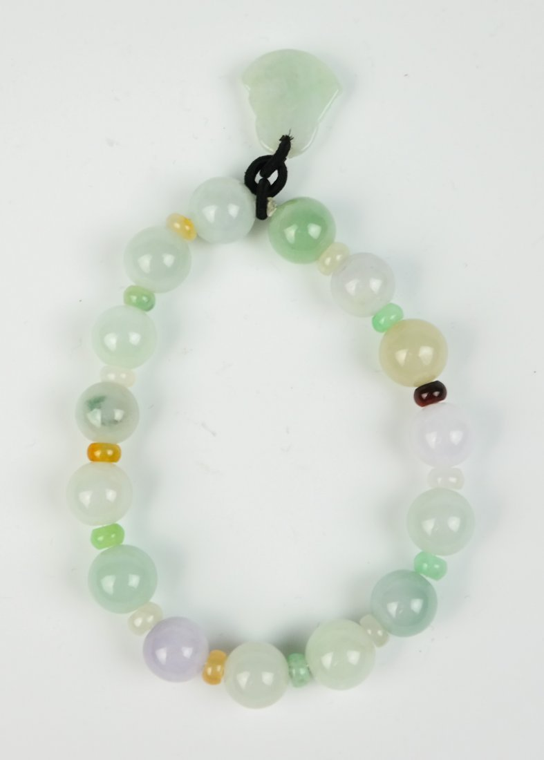 a jadeite bracelet