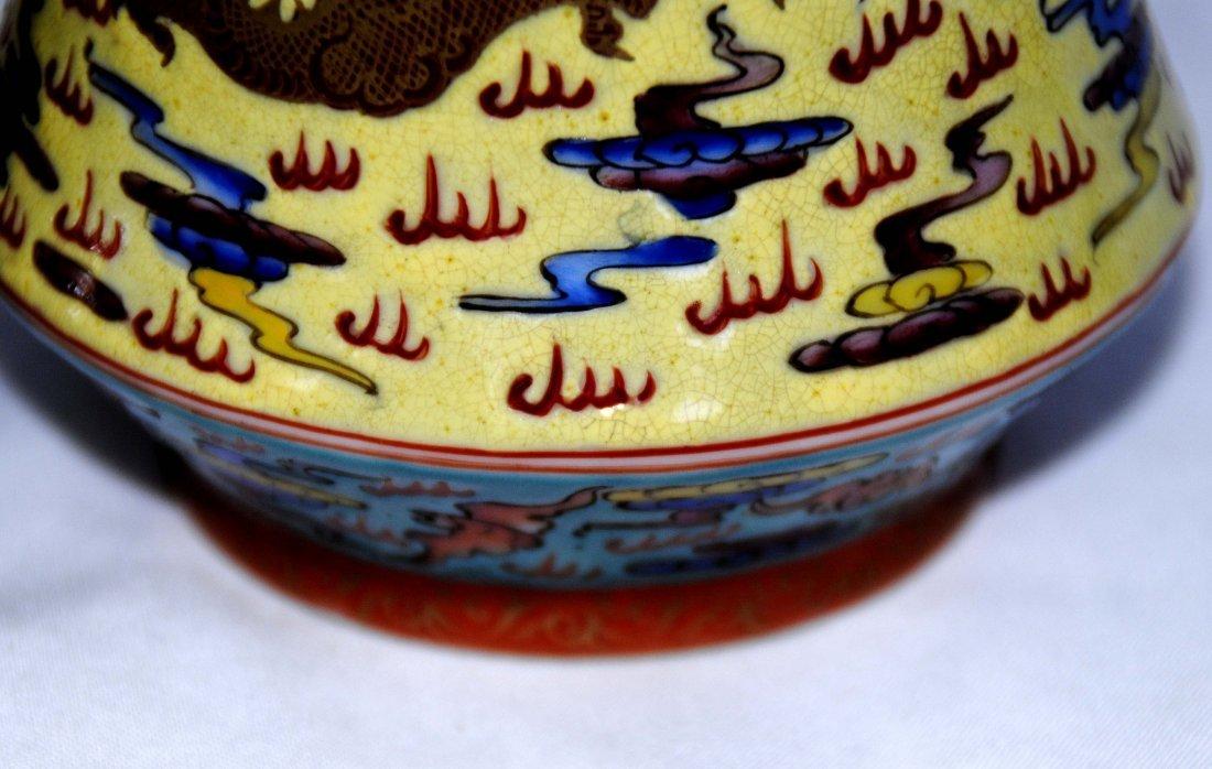 Chinese  9Dragon Vase  1Pair YongZheng  Mark - 8