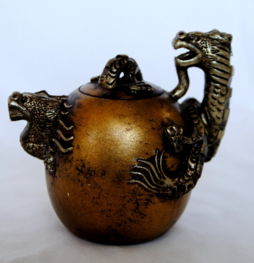 Chinese Cilt  Dragon  ZiSha Tea Pot