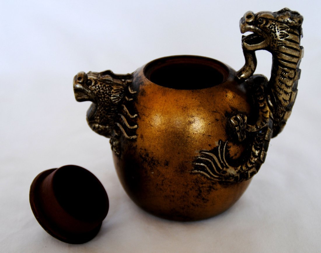 Chinese Cilt  Dragon  ZiSha Tea Pot - 3