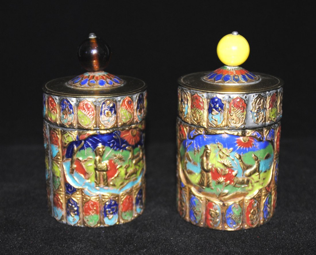 Cloisonne Jewelry Box  2 Pcs