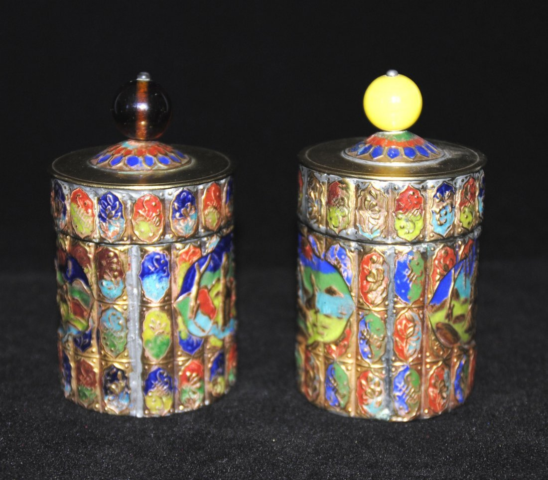 Cloisonne Jewelry Box  2 Pcs - 2