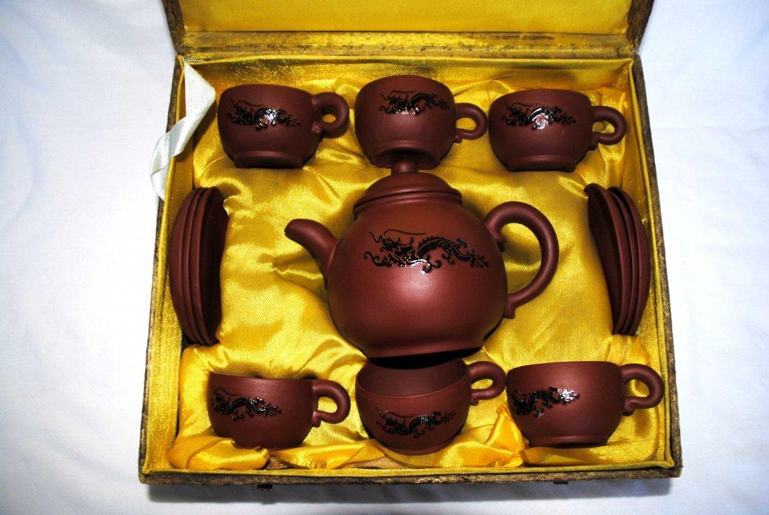 Old  YiXing ZiSha TeaPot   1Set - 2