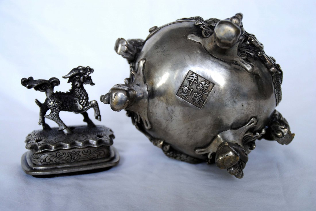 Chinese Antigue Bronze Censer - 4