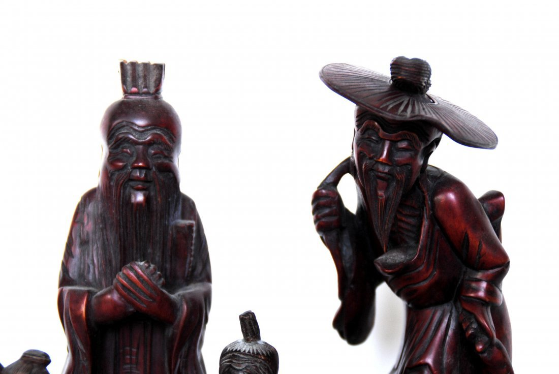 Chinese  Wood  Carving  10 Pcs - 2