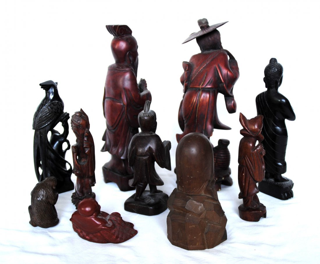 Chinese  Wood  Carving  10 Pcs - 6