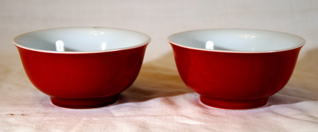 Red  Bowl  Have Mark  2 pcs