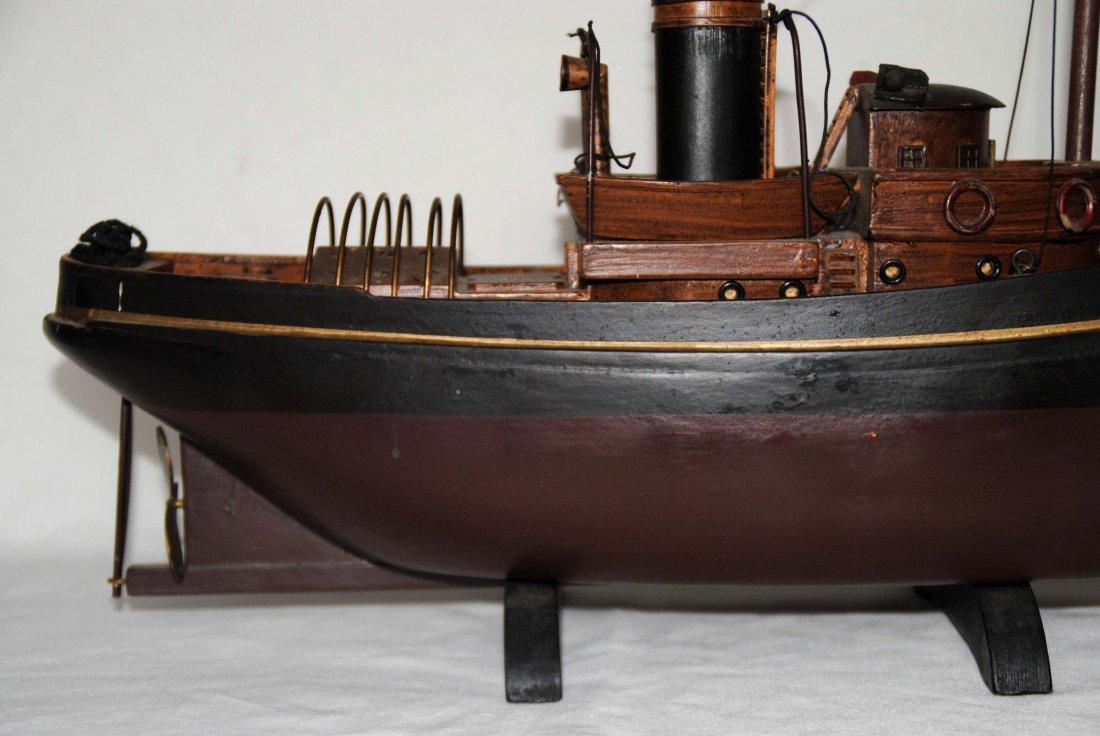Wood Tugboat  Model - 3