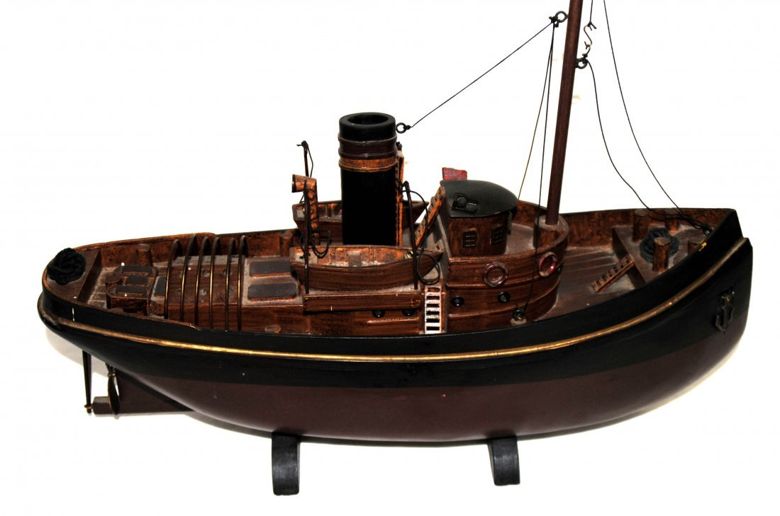 Wood Tugboat  Model - 4
