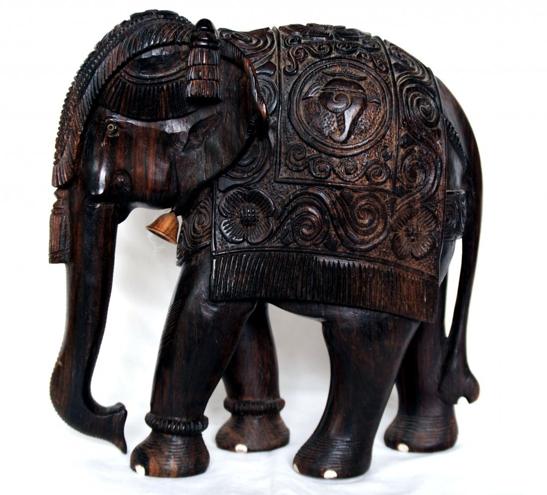 Asia  Wood Carving Elephant