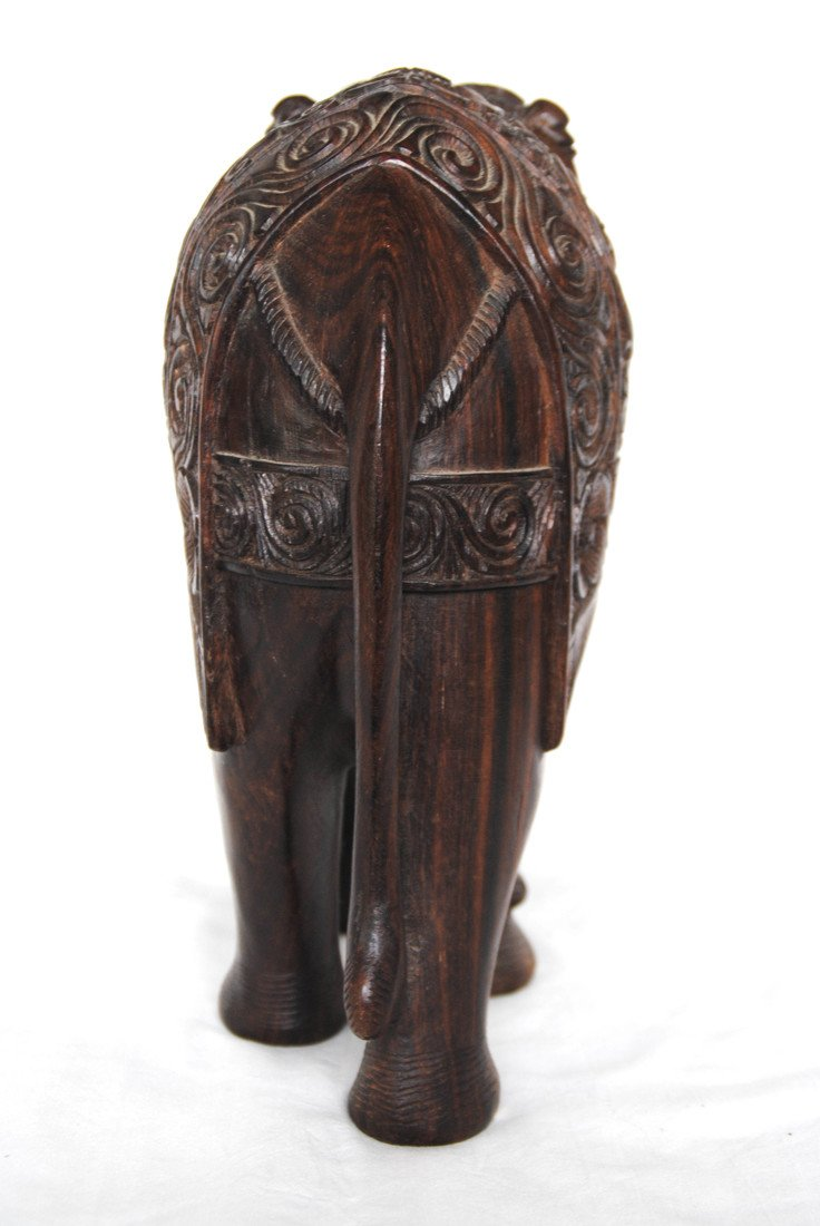 Asia  Wood Carving Elephant - 5